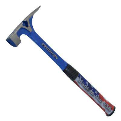 19 oz. Milled Face Solid Steel hammer, 15 In handle, side nail puller