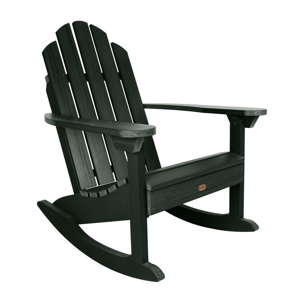 Highwood Classic Westport Charleston Green Recycled Plastic Outdoor Rocking Chair