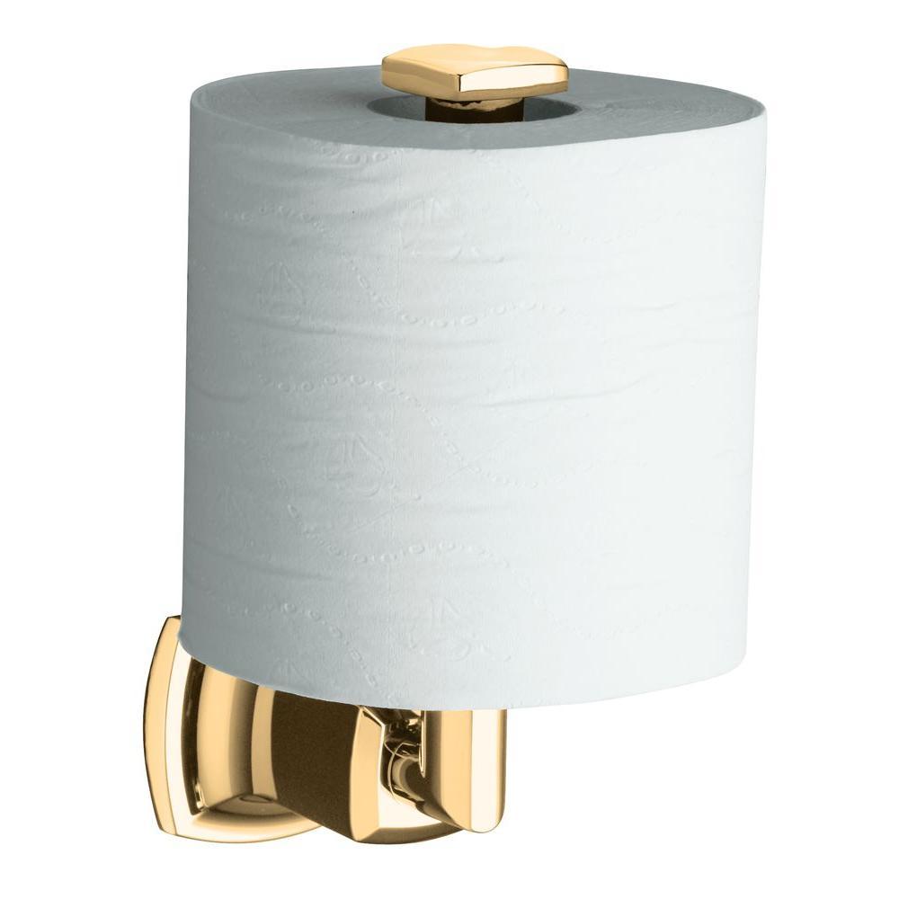 kohler margaux vertical wall mount single post toilet paper holder in vibrant brushed bronze k. Black Bedroom Furniture Sets. Home Design Ideas