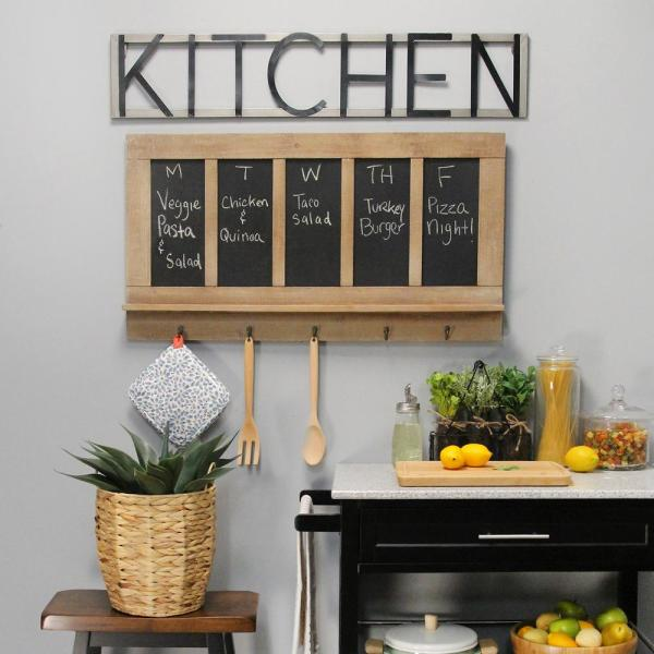 Chalkboard And Hook Wall Decor S23762