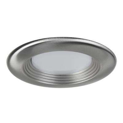 4 in. Brushed Nickel Recessed LED Baffled Trim