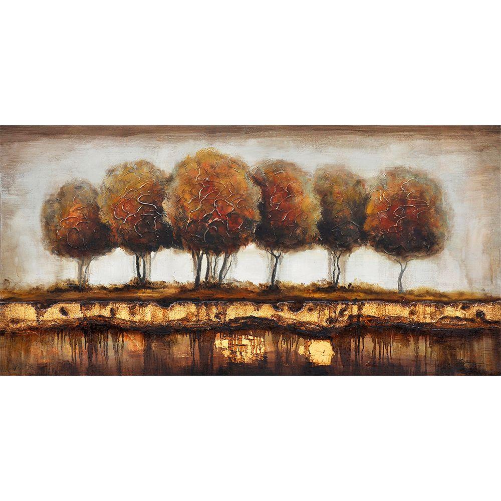 "Yosemite Home Decor 55 in. x 28 in. ""Talking Trees"" Contemporary Artwork"