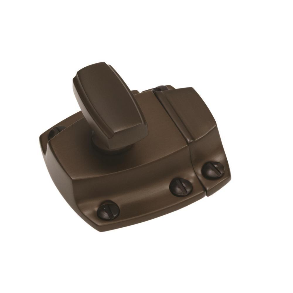 Highland Ridge 1-7/8 in (48 mm) Length Caramel Bronze Cabinet Door Latch