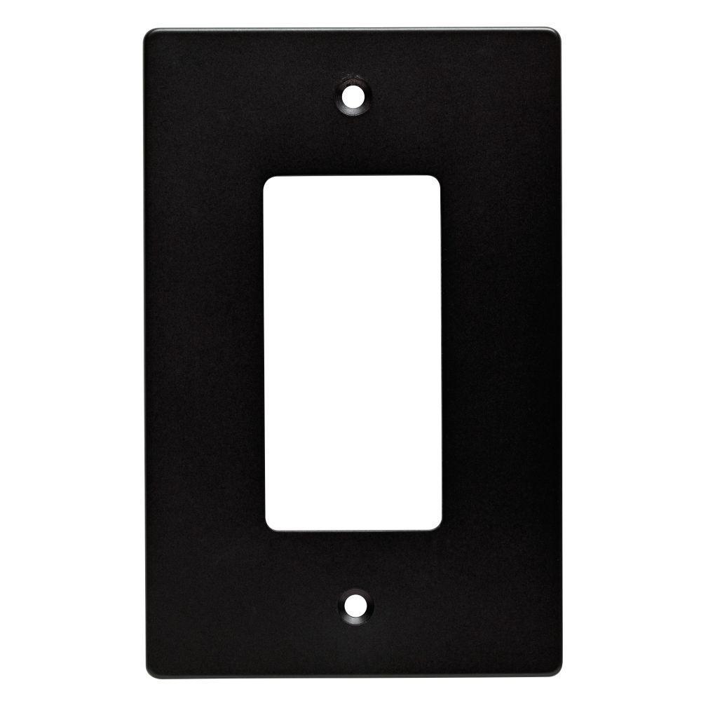 Subway Tile Decorative Single Rocker Switch Plate, Flat Black (25-Pack)