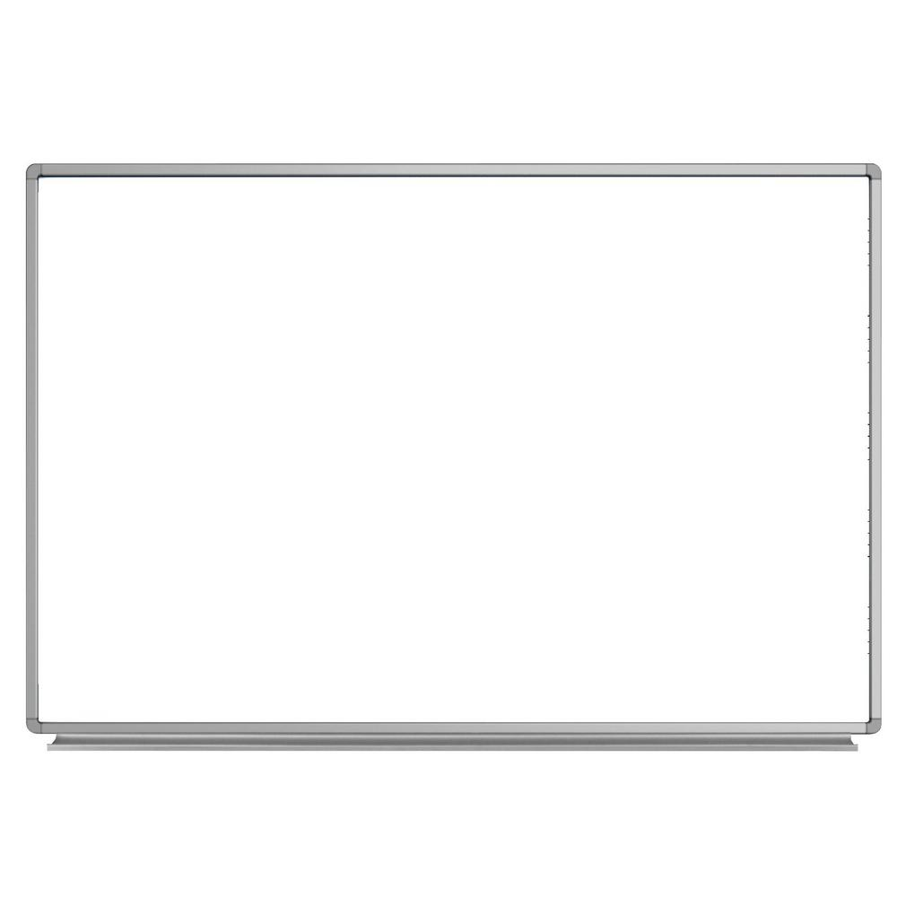 72 in. W x 48 in. H Wall-Mounted Magnetic Whiteboard White