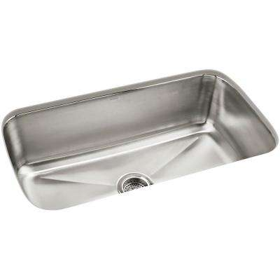 Carthage Undermount Stainless Steel 32 in. Single Bowl Kitchen Sink