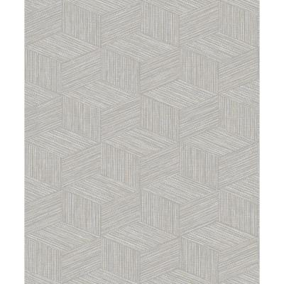 3 Dimensional Faux Grasscloth Wallpaper Grey Paper Strippable Roll (Covers 57 sq. ft.)