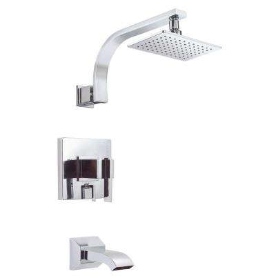 Sirius 1-Handle Pressure Balance Tub and Shower Faucet Trim Kit in Chrome (Valve Not Included)