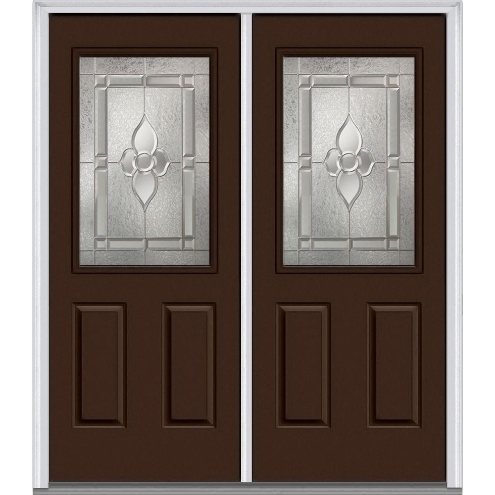 64 in x 80 in master nouveau left hand 12 lite - Exterior Double Doors