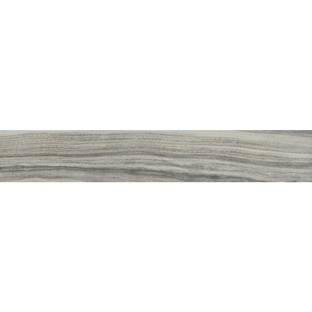 Dellano Moss Grey 8 in. x 48 in. Polished Porcelain Floor
