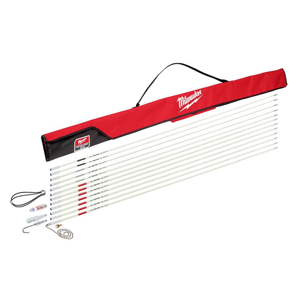 60 ft. Fiberglass Fish Stick Low/Mid/High Flex Combo Kit with Accessories