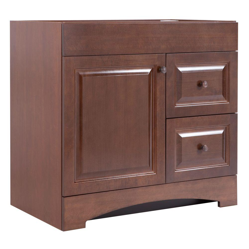 Glacier Bay Regency 36 In Vanity Cabinet Only In Auburn