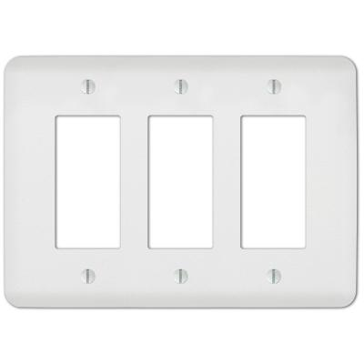 Perry 3 Gang Rocker Steel Wall Plate - White