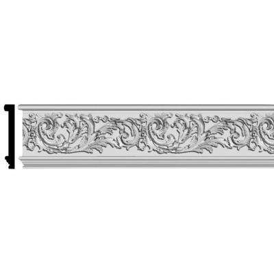 7-1/16 in. x 1 in. x 96 in. Floral Scroll Polyurethane Frieze Panel Moulding