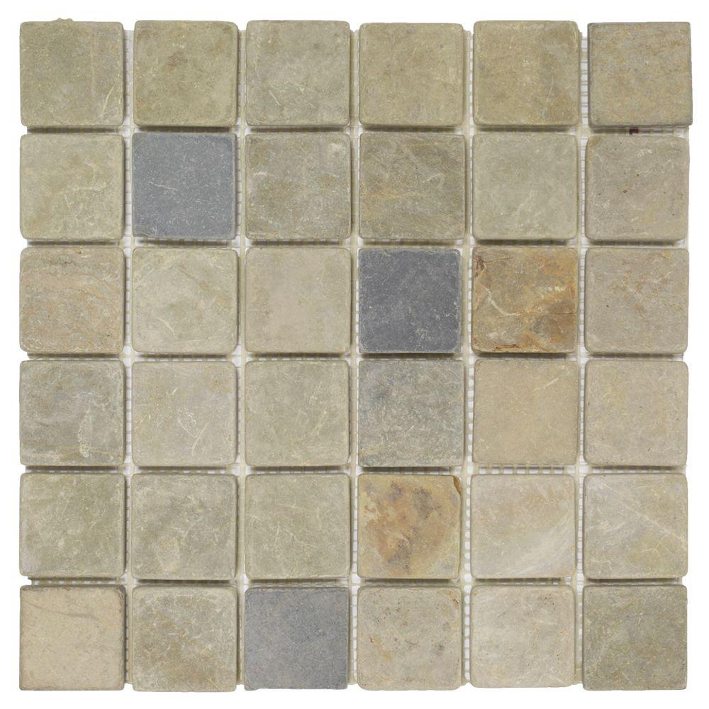 Jeffrey Court Sequoia 12 In X 8 Mm Slate Mosaic Wall