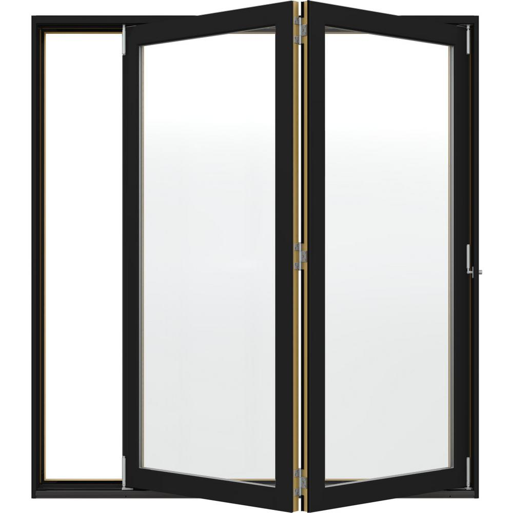 folding patio doors. JELD-WEN 72 In. X 80 W-4500 Black Clad Wood Folding Patio Doors L