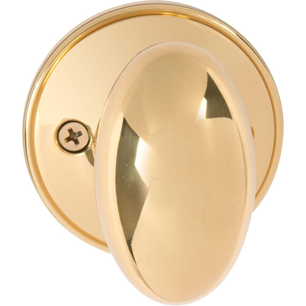Faultless Ball Polished Brass Dummy Door Knob T3740b F
