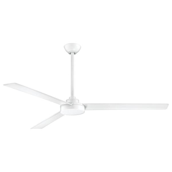 Roto XL 62 in. Indoor/Outdoor Flat White Ceiling Fan with Wall Control