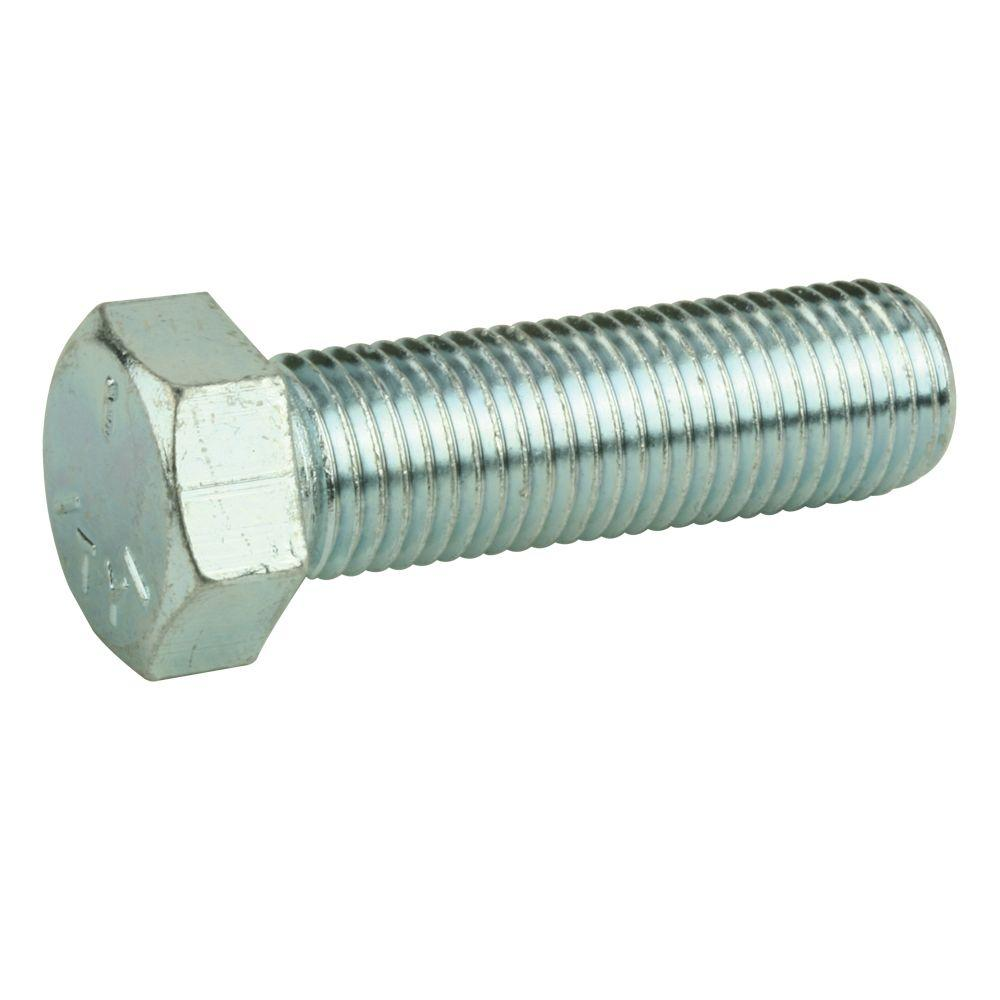 9/16 in. - 18 in. x 2-1/4 in. Zinc Grade 5 Fine Thread Hex Bolt, Metallics