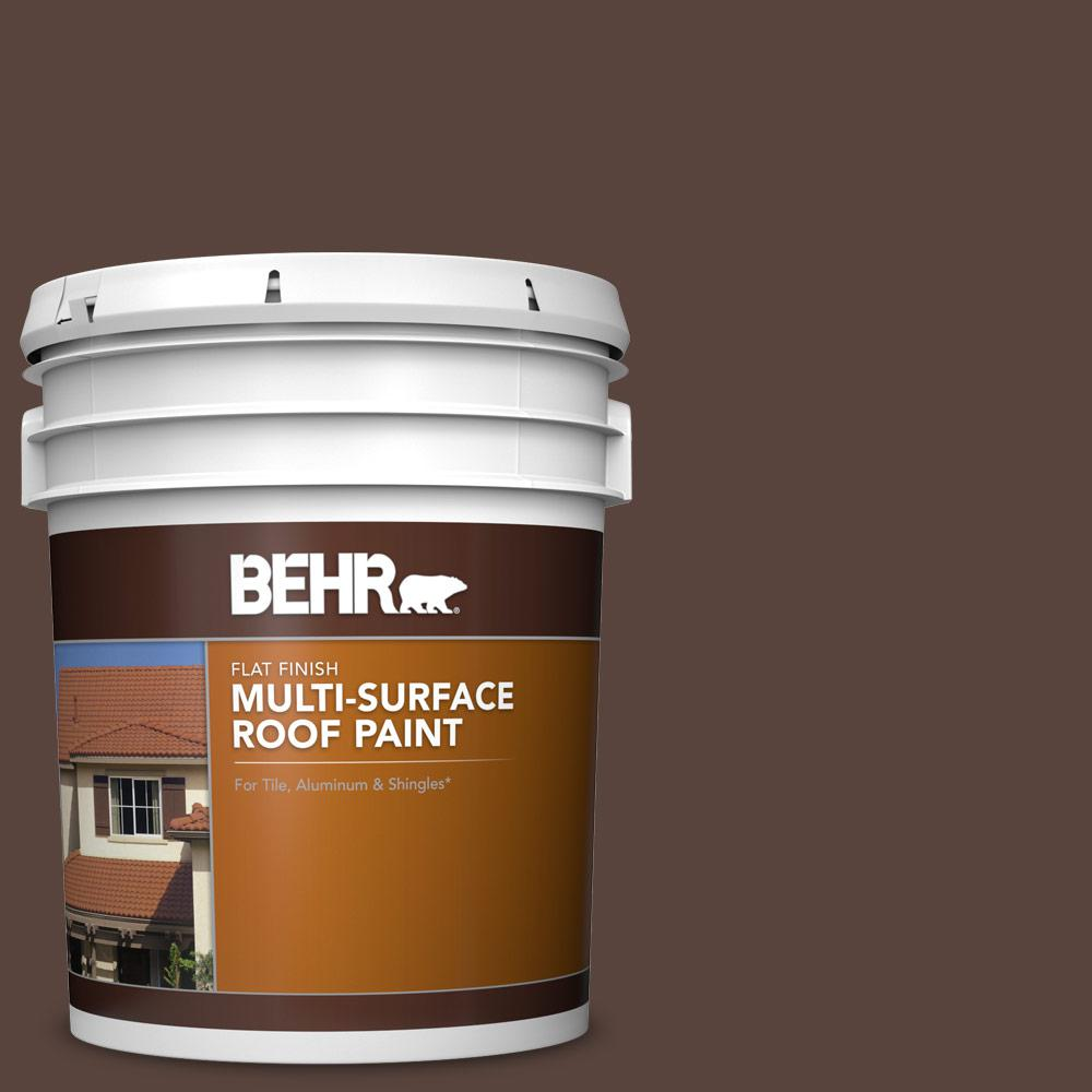 BEHR 5 gal. #S-G-790 Bear Rug Flat Multi-Surface Exterior Roof Paint