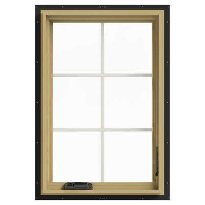 24 in. x 36 in. W-2500 Right Hand Casement Aluminum Clad Wood Window