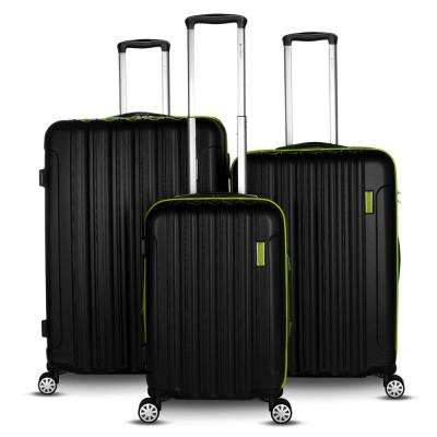 Hola Collection 3-Piece Green Expandable Hard-Side Spinner Luggage