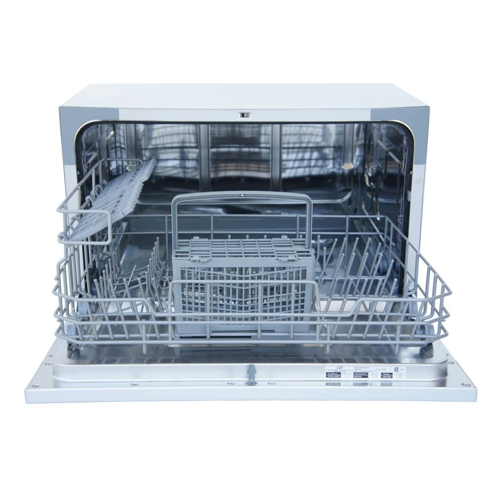Spt Countertop Dishwasher In White With