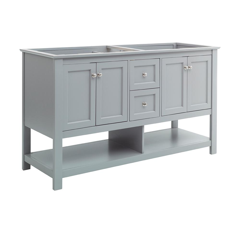 Manchester 60 in. W Bathroom Double Bowl Vanity Cabinet Only in