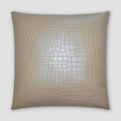 Gladerunner Ivory Feather Down 18 in. x 18 in. Standard Decorative Throw Pillow