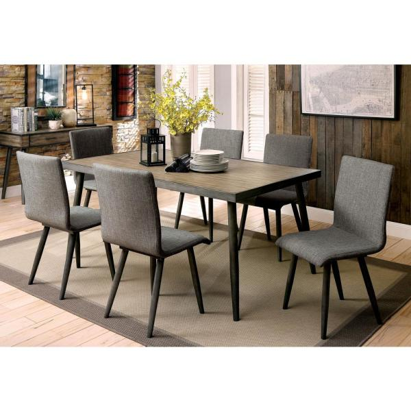William S Home Furnishing Vilhelm I Gray Mid Century Modern Style Dining Table