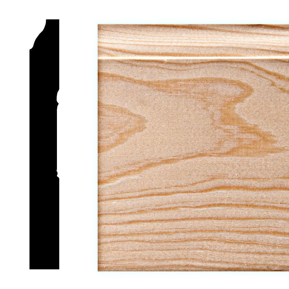 Anderson WM 618 9/16 in. x 5-1/4 in. Pine Base Moulding