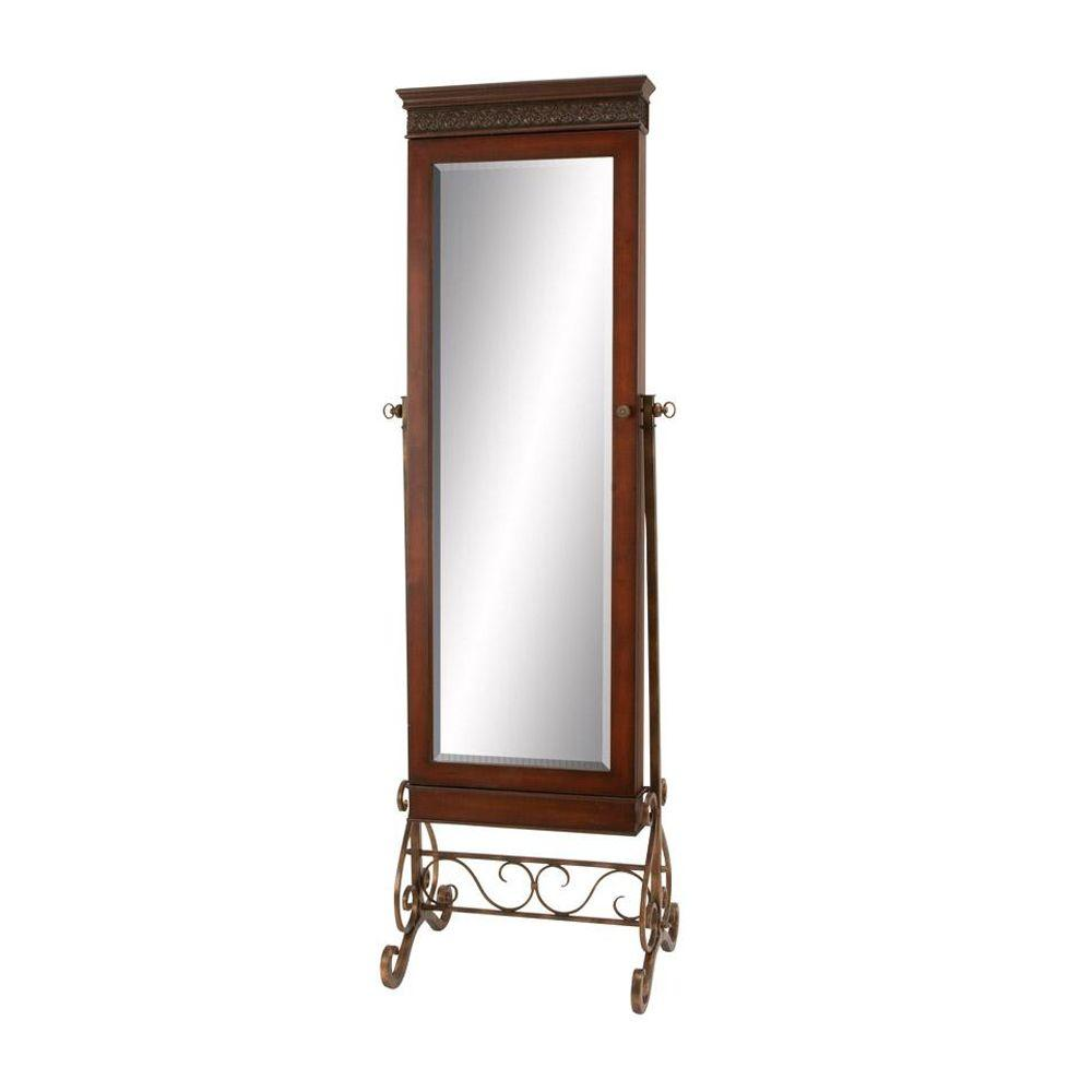 Home decorators collection 68 in h x 23 in w standing mahogany wood framed mirror 1146210920 Home decorators collection mirrors