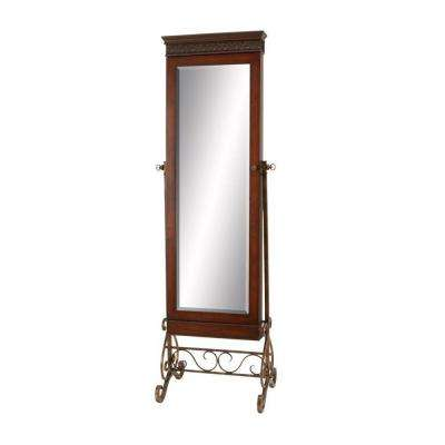 68 in. H x 23 in. W Standing Mahogany Wood Framed Mirror