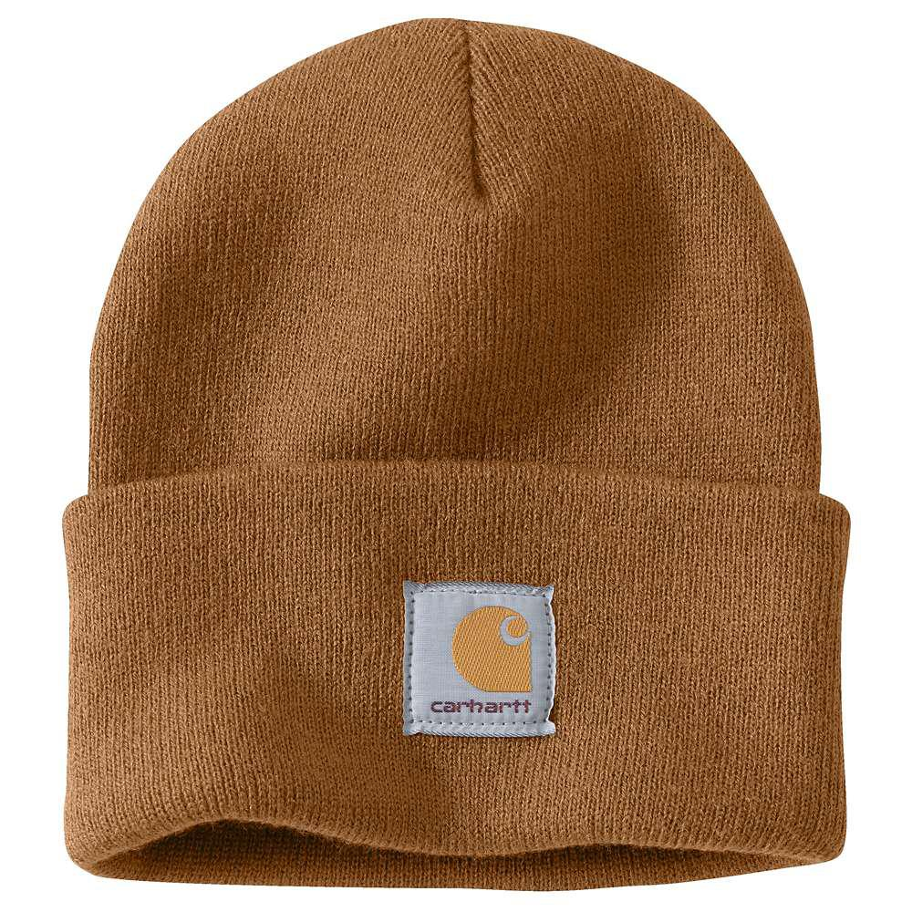 7d901bcadce Carhartt Men s OFA Brown Acrylic Hat Headwear-A18-BRN - The Home Depot