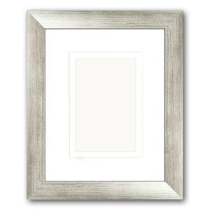 PTM Images 1-Opening 4 inch x 6 inch or 5 inch x 7 inch Matted Silver Picture Frame (Set... by PTM Images