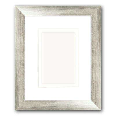1-Opening 4 in. x 6 in. or 5 in. x 7 in. Matted Silver Picture Frame (Set of 2)