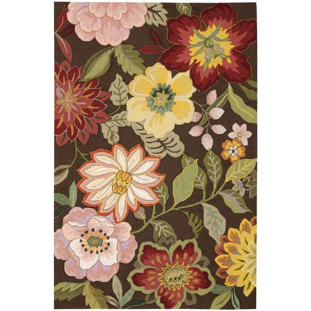 Nourison Spring Blossom Chocolate 5 ft. x 7 ft. 6 in. Area Rug