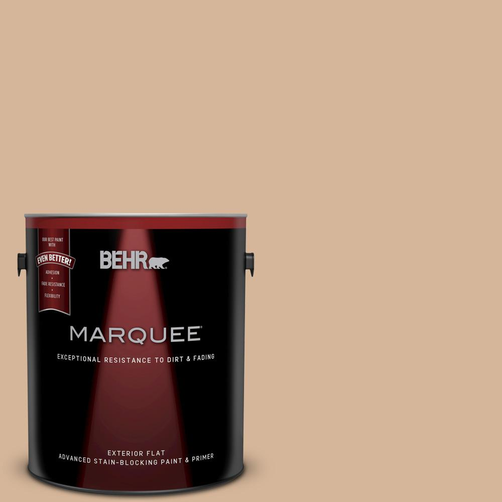 BEHR MARQUEE 1-gal. #ECC-40-1 Canewood Flat Exterior Paint