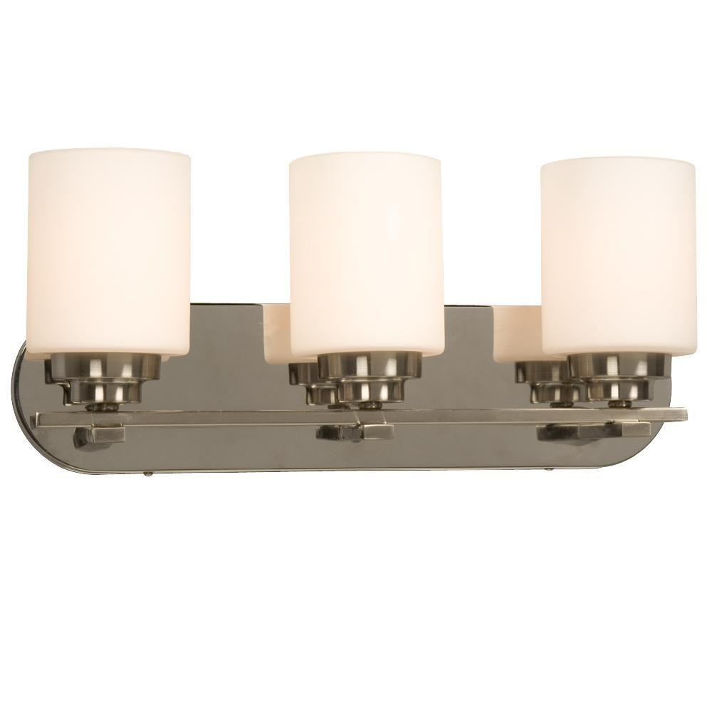 Negron 3-Light Chrome Incandescent Bath Vanity Light