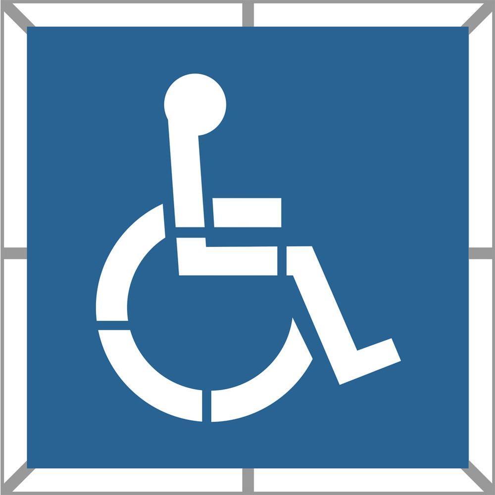 48 in. Two Part Handicap Stencil
