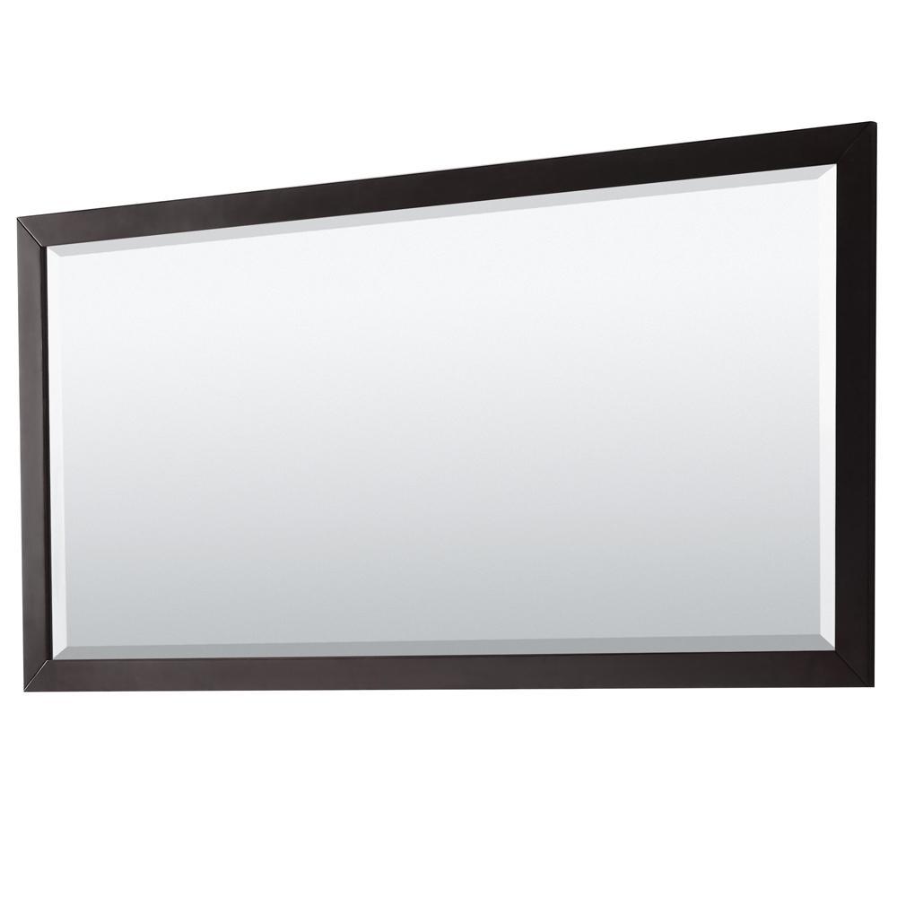Daria 70 in. W x 36 in. H Framed Wall Mirror in Dark Espresso