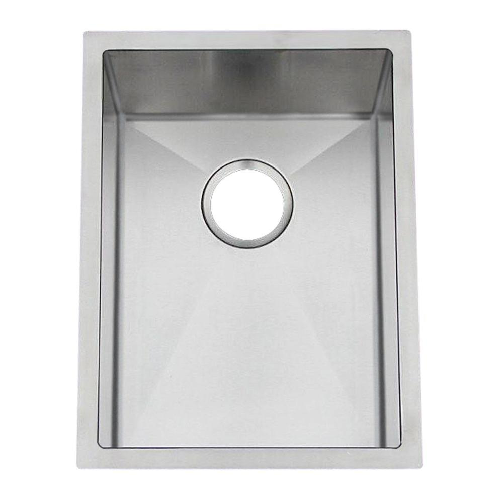 Gallery Series Undermount style Stainless Steel 15 in. 0-Hole Bar/Prep Sink