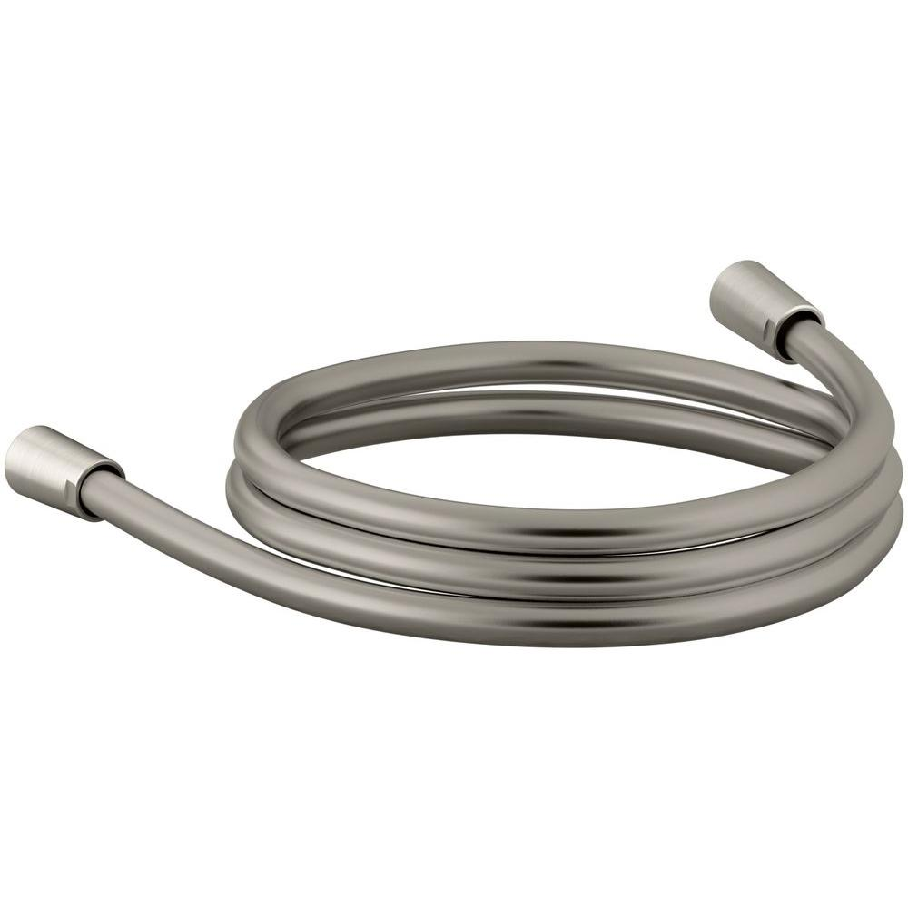 KOHLER Awaken 60 in. Smooth Shower Hose, Vibrant Brushed Nickel