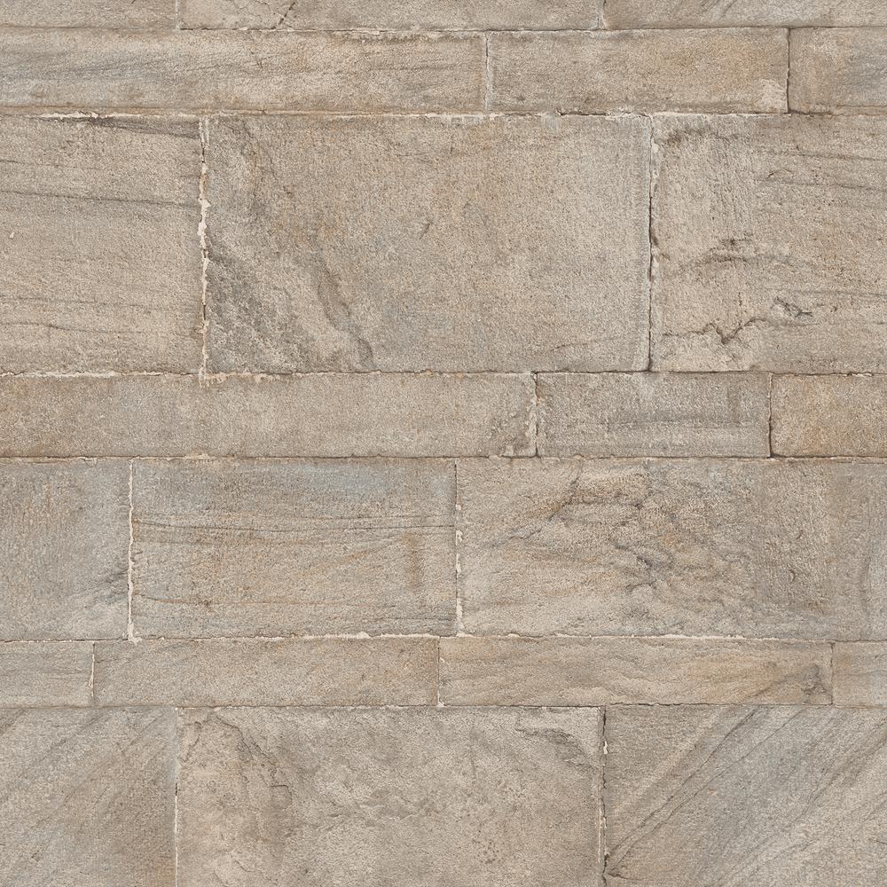 30.8 sq. ft. Beige Sandstone Wall Peel and Stick Wallpaper