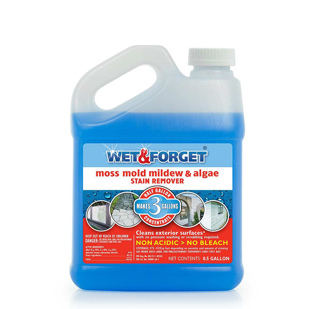 Wet & Forget 0 5 gal  Moss Mold Mildew and Algae Stain Remover