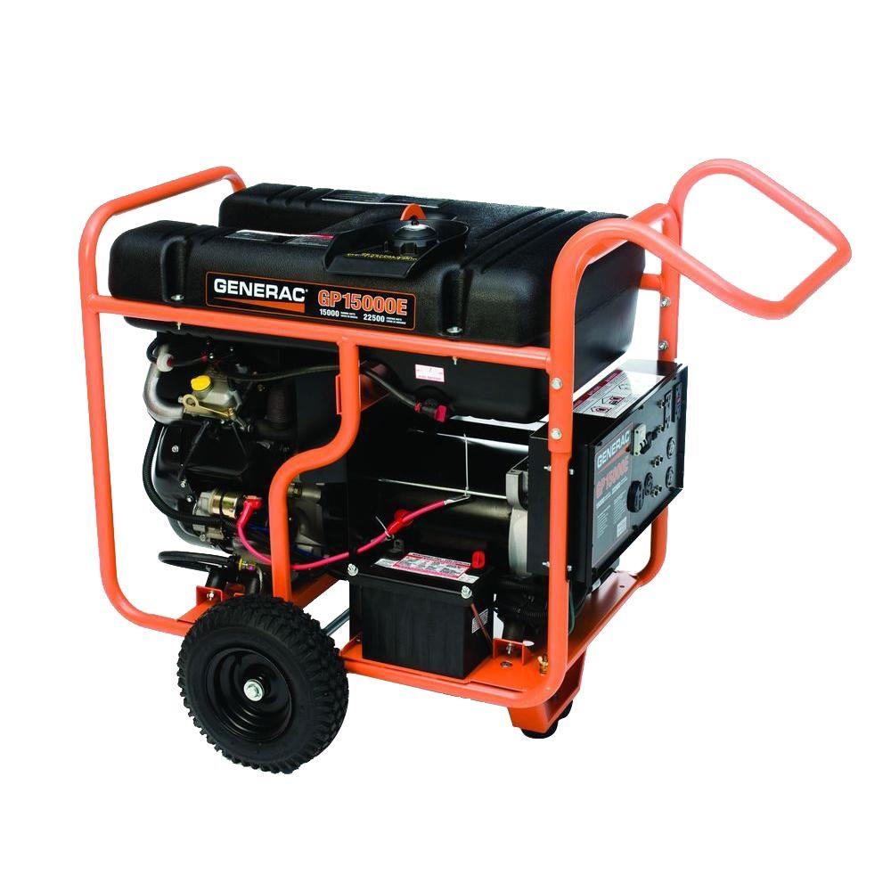 Generac 15,000-Watt Gasoline Powered Portable Generator with OHVI Engine