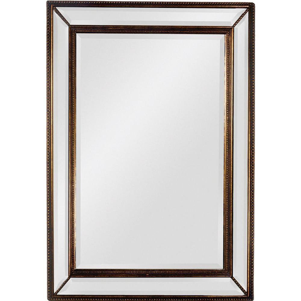 Filament Design Luna 51 in. x 40 in. Antique Gold Framed Mirror