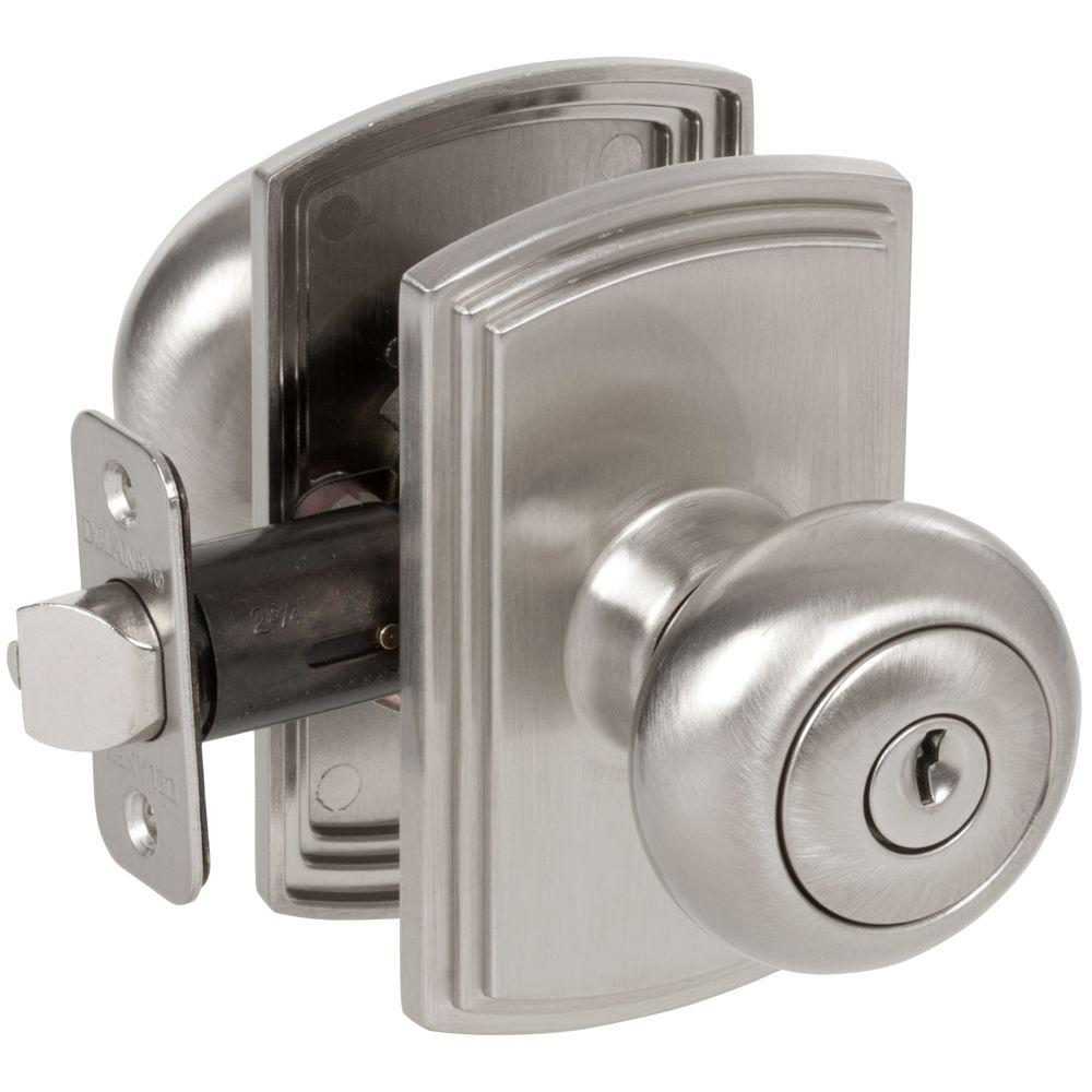Defiant Hartford Satin Nickel Keyed Entry Door Knob Tgx200