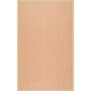 Orsay Machine Woven Jute Beige 8 ft. x 10 ft. Area Rug