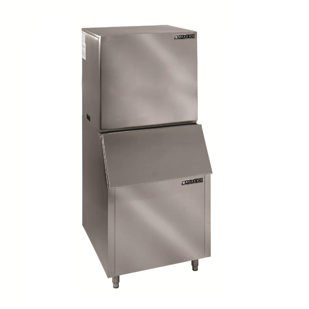 Maxx Ice 1000 lb. Freestanding Ice Maker in Stainless Steel